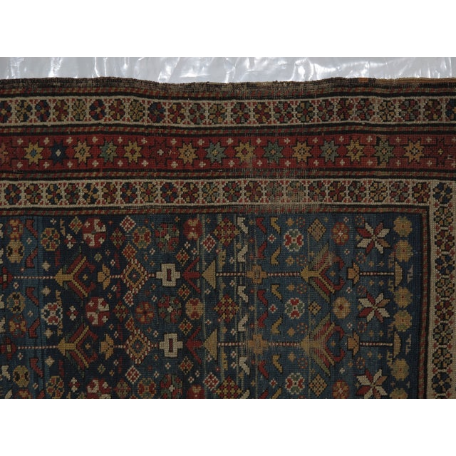 """Antique Russian Shirvan Rug - 3' X 4'6"""" - Image 5 of 6"""