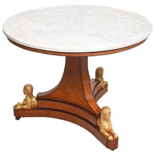 Charles X Center Table With Sphinx, Provenance Sothebys C. 1830 For Sale