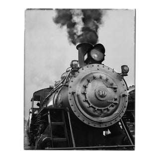 Train Black & White Photograph by Charles Baker For Sale