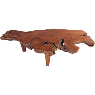 Organic Modern One Slab Organic Coffee Table For Sale