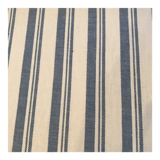 "Schumacher ""Capri"" Striped Blue Fabric For Sale"