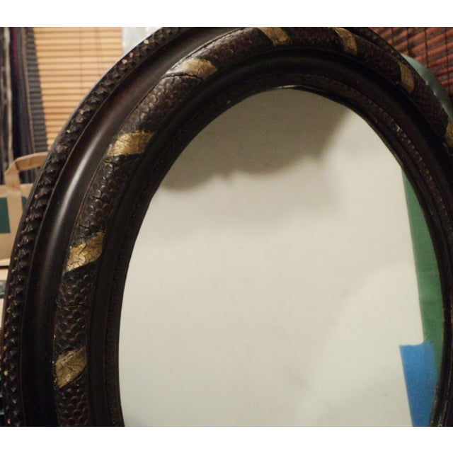 Antique Oval Hanging Mirror - Image 7 of 11