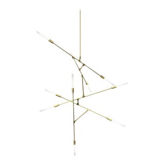 Contemporary Hand-Blown Glass Tubes Dawn Chandelier For Sale