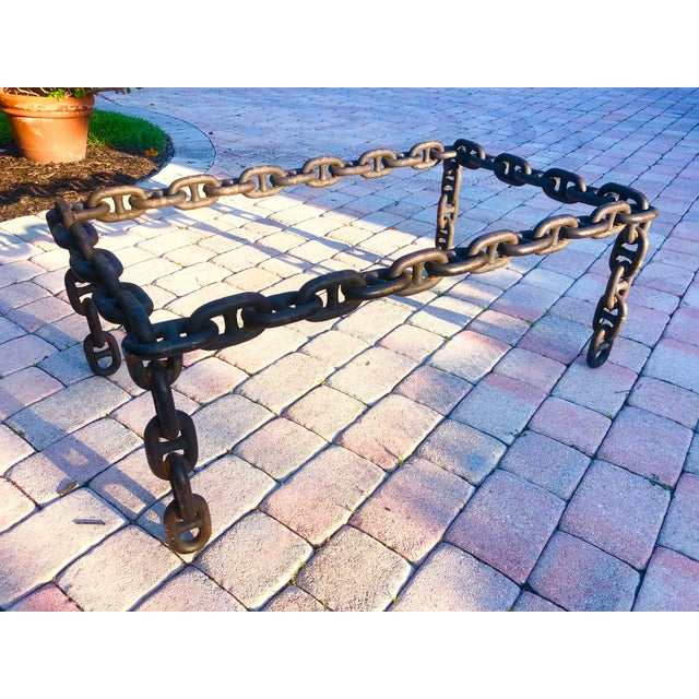 Ship Iron Chain Link Coffee Table For Sale - Image 10 of 10