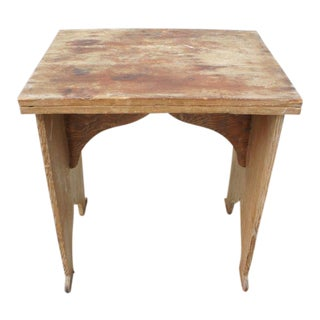Primitive Folding Wooden Table For Sale