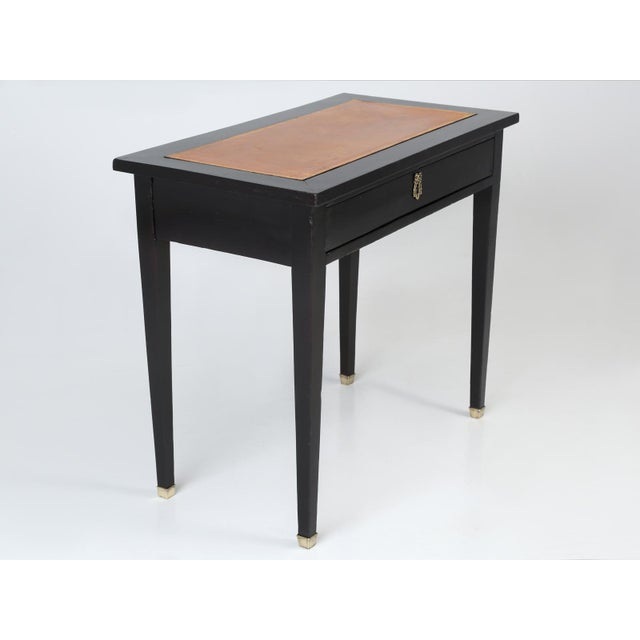 French Antique French Ebonized Writing Table For Sale - Image 3 of 11