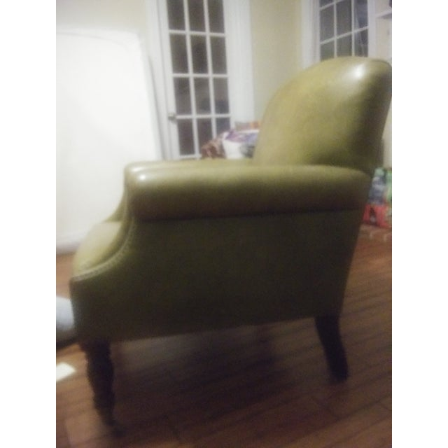 Green George Smith Green Club Chair For Sale - Image 8 of 12
