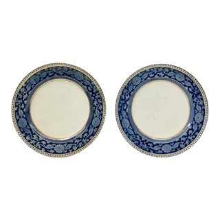 Antique English Blueflow Booths Plates - aP air