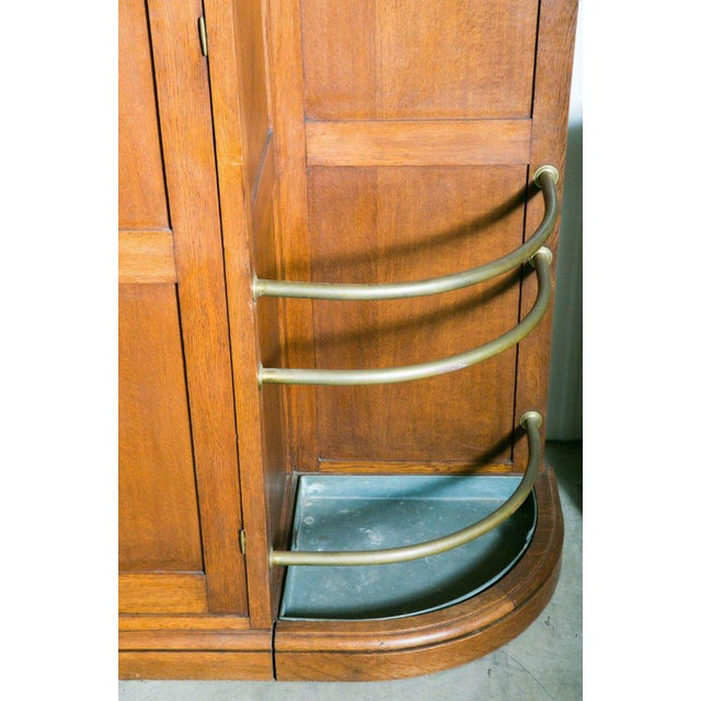 Gold French Art Deco Triple Panel Corner Closet For Sale - Image 8 of 10