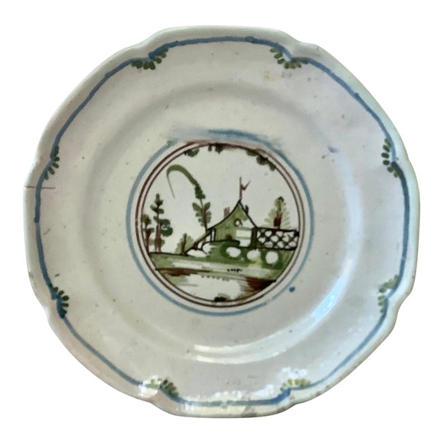 18th Century French Faience House Nevers Plate For Sale
