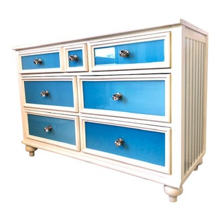 Contemporary 6-Drawer Solid Wood Dresser For Sale