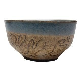 American Studio Ceramic Sgraffito Decorative Bowl For Sale