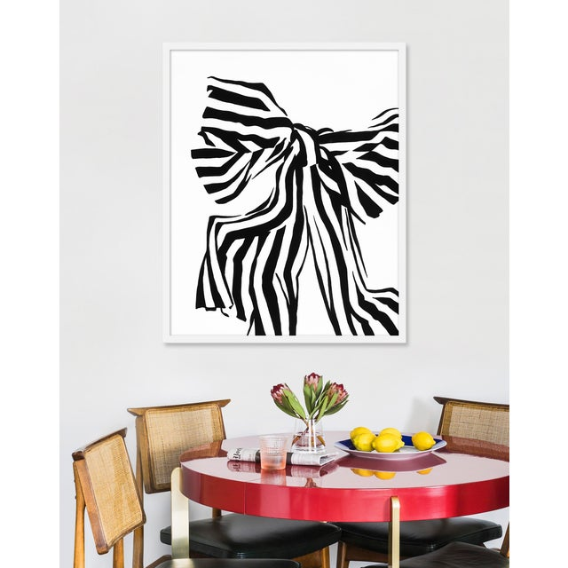 """Contemporary Medium """"White Bow"""" Print by Angela Chrusciaki Blehm, 28"""" X 35"""" For Sale - Image 3 of 4"""
