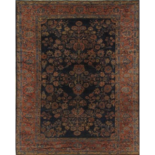 "Pasargad NY Antique Persian Lilian Saruk Hand-Knotted Rug - 7'7"" X 9'3"" For Sale"