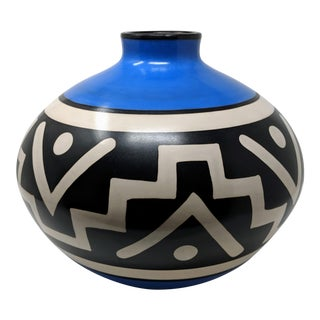 Vintage Peruvian Handmade Vase For Sale
