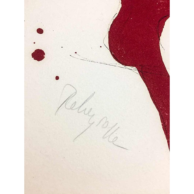 """Contemporary Paul Rebeyrolle Original Hand Sign Lithograph Ltd Ed. """"I Think."""" W/Frame For Sale - Image 3 of 6"""