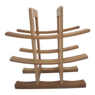 1960s Chinoiserie Style Wood Wine Rack For Sale