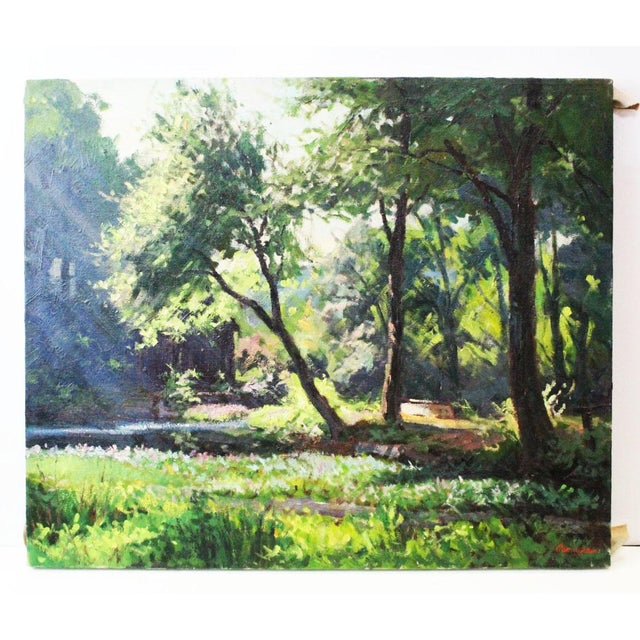 Canvas Caddell Spring Forest Painting by Foster Caddell For Sale - Image 7 of 7