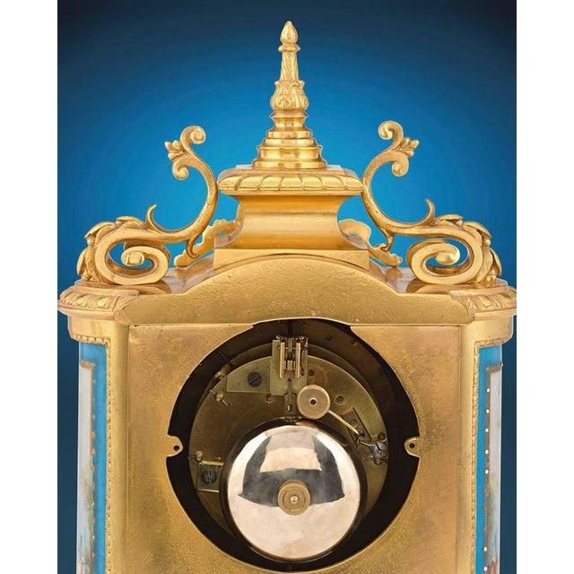 Sèvres Clock Garniture - Set of 3 For Sale - Image 4 of 6