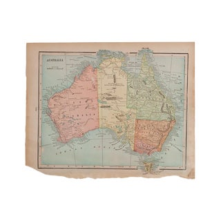 Cram's 1907 Map of Australia For Sale