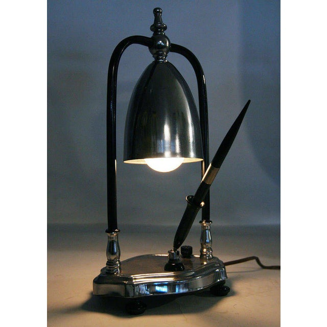 Art Deco Desk Lamp with Pen Holder - Image 6 of 6