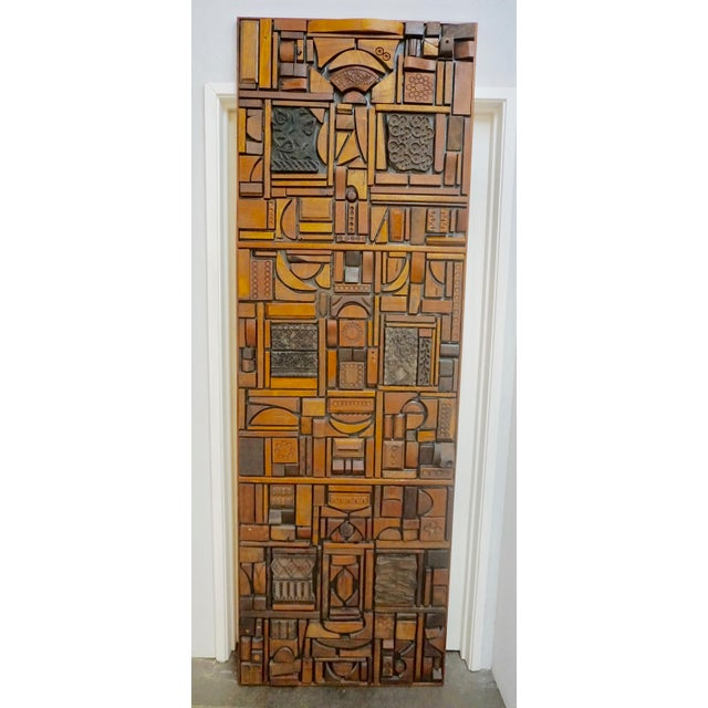 Brown Mabel Hutchinson Abstract Wood Sculpture For Sale - Image 8 of 9