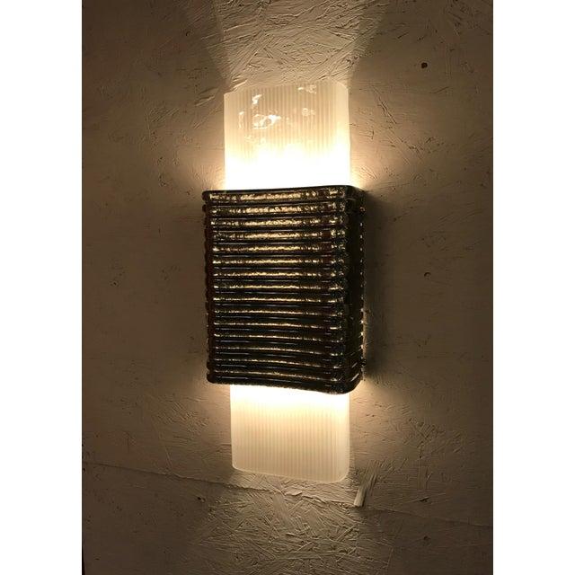 Transparent Righe Sconces / Flush Mounts by Fabio Ltd - a Pair For Sale - Image 8 of 11