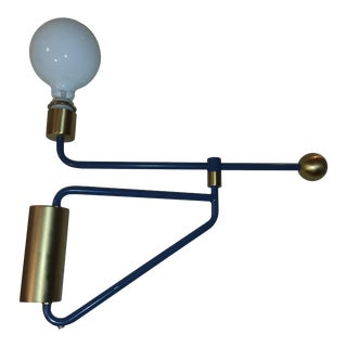 Memphis Style Counterbalance Swing Arm Wall Lamp For Sale