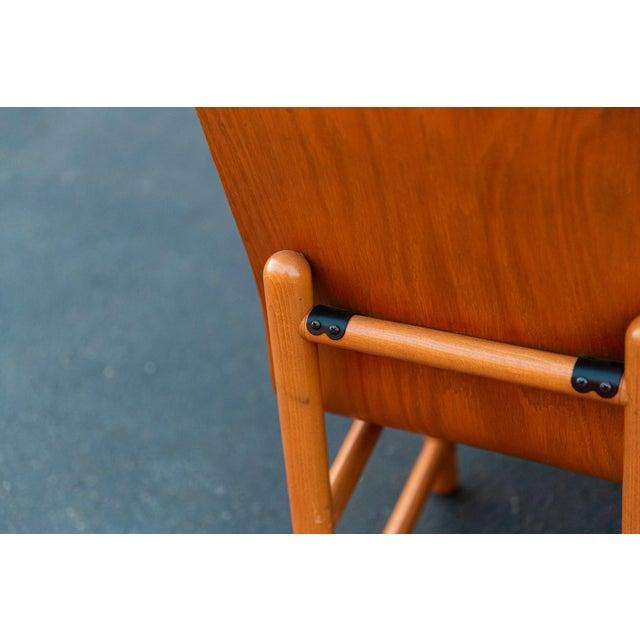 Burnt Orange Vintage Modern Moulded Plywood Chairs - Set of 8 For Sale - Image 8 of 11