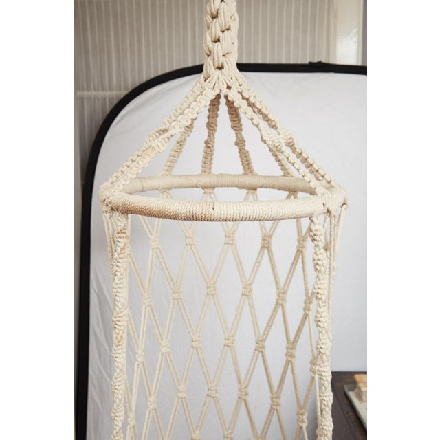 Vintage Boho Chic Macrame Hanging Chair For Sale - Image 10 of 13