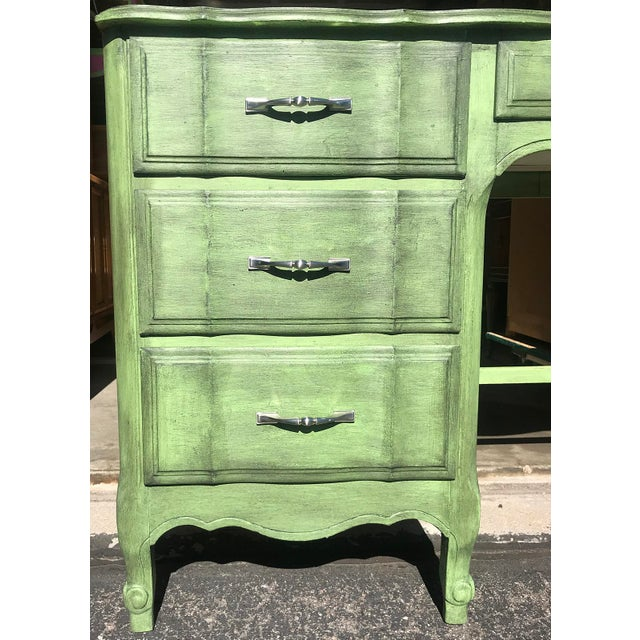 "Green 1980s French Provincial Kent-Coffey ""The Maisonette"" Writing Desk For Sale - Image 8 of 13"