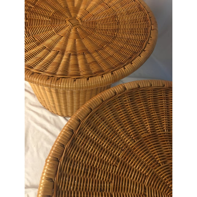 1980s Vintage Rattan Chairs - a Pair For Sale In Charleston - Image 6 of 12