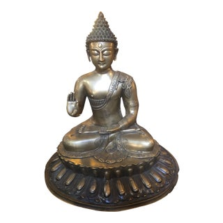 Tibetan Zen Temple Brass Protection Buddha Statue For Sale
