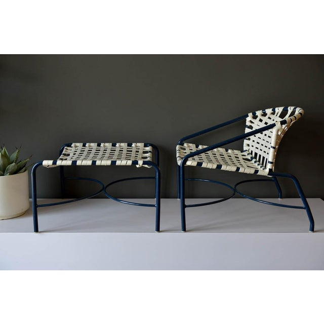 Outdoor lounge chair and ottoman by Tadao Inouye for Brown Jordan, circa 1970. Rare lounge chair version which is wider...