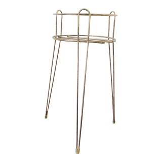 Mid Century Hairpin Leg Plant Stand For Sale