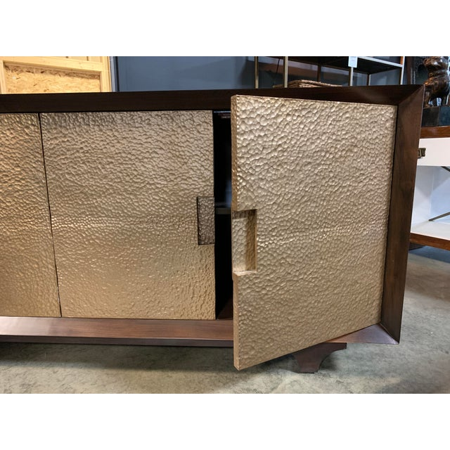 Worlds Away Wood & Metal Sideboard For Sale In New York - Image 6 of 7