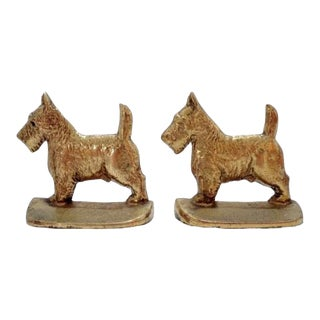 "Scottish ""Scottie"" Terrier Dog Bookends - a Pair For Sale"