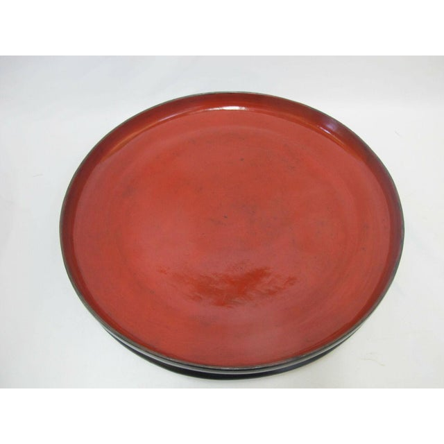 19th Century Antique Burmese Conical Compartment Food Offering Bowls- 7 Pieces For Sale - Image 11 of 12