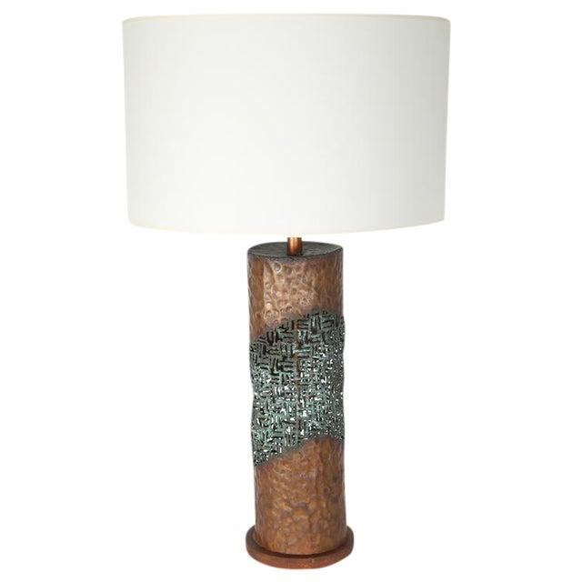 MARCELLO FANTONI TORCH-CUT TABLE LAMP For Sale