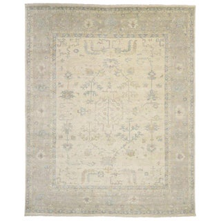 Contemporary Oushak Style Area Rug - 12′ × 14′10″ For Sale