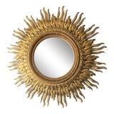 Image of Vintage Sunburst Mirror For Sale