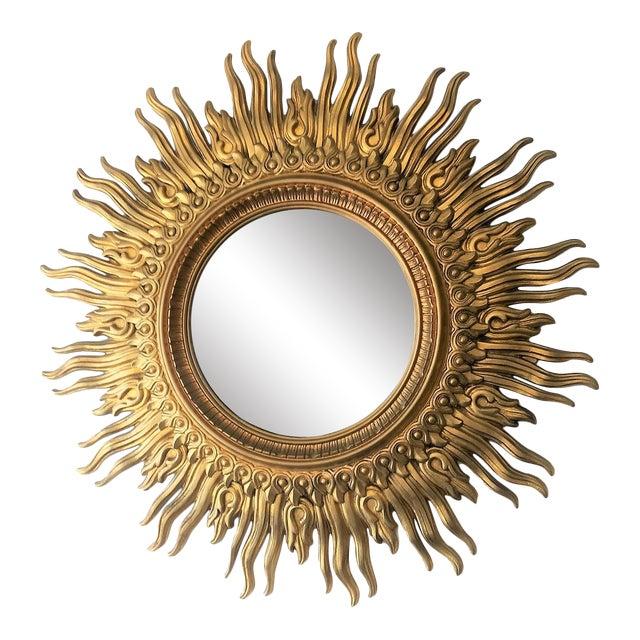 Vintage Sunburst Mirror For Sale
