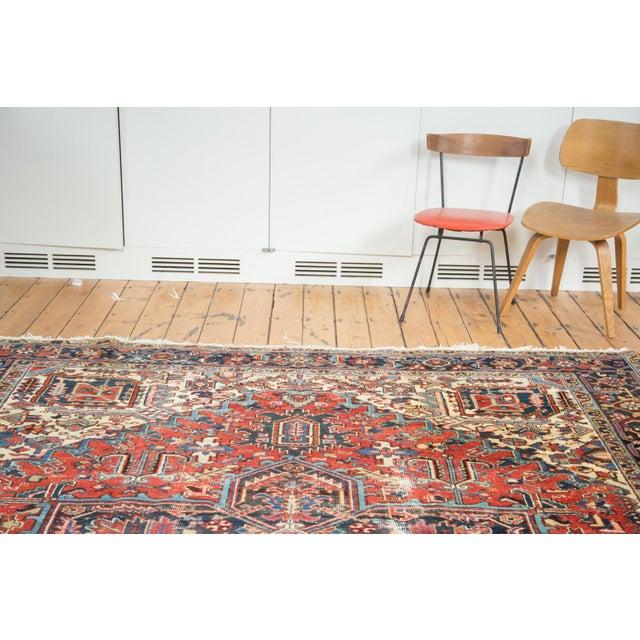 "Vintage Distressed Heriz Carpet - 8'11"" X 11'10"" - Image 2 of 10"