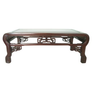 Vintage Ming Style Chinese Rosewood Tea Tray Side Table / Display Stand For Sale