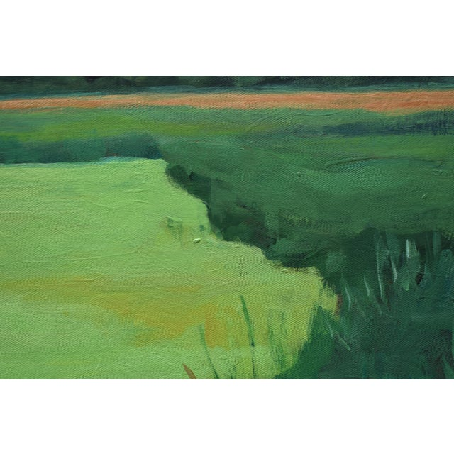 """""""Glowing Green ~ Algae Covered Pond"""" Contemporary Painting by Stephen Remick For Sale In Providence - Image 6 of 13"""