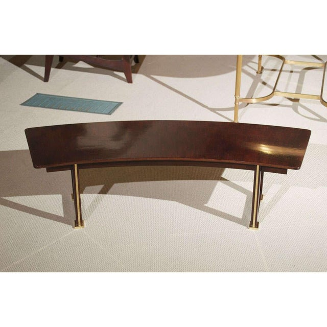Gold Jules Leleu Rosewood Table For Sale - Image 8 of 9