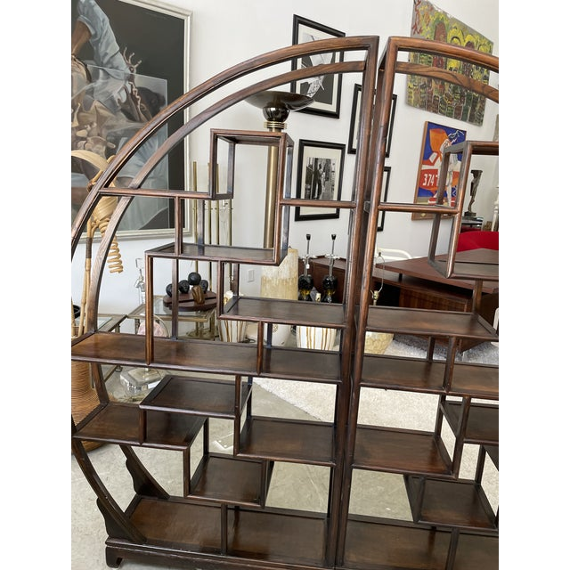 1960s Asian Style Wooden Etagere For Sale - Image 4 of 11