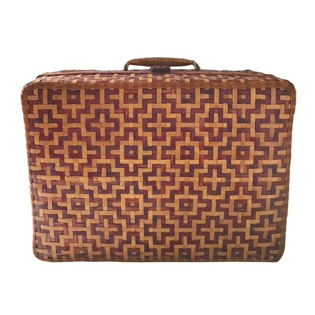 Geometric Weave Basket Trunk - Image 1 of 8