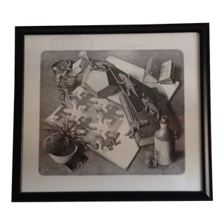 """Reptiles"" Black and White Print by M.C. Escher For Sale"