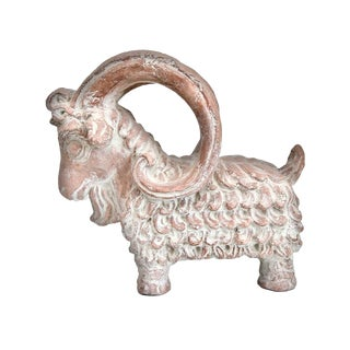1960s Austin Productions Aries Ram Figural Decorative Pottery Statue